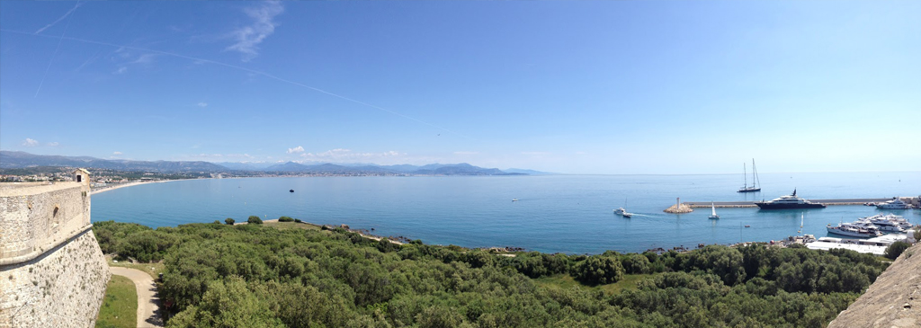 View of Antibes on the coast